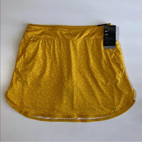 Nike Dresses & Skirts - Nike Printed Golf Skirt Skort Yellow UPF XS